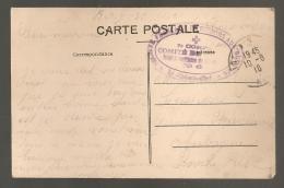 CACHET  SOCIETE DE SECOURS AUX BLESSES / 7EME CORPS  COMITE DE BOURG HOPITAL AUXILIAIRE N°6 B275 - Postmark Collection (Covers)