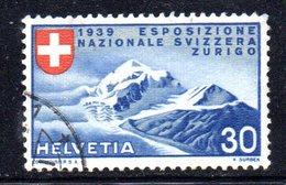 1015 490 - SVIZZERA 1939 , Unificato N. 325 Usato - Gebraucht