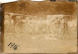PHOTO ORIGINALE  SOLDATS ET VEHICULES  25/08/1916  FORMAT  9 X 6.5 CM - War, Military