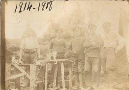 PHOTO ORIGINALE  GROUPE DE SOLDATS  FORMAT  9 X 6.50 CM - War, Military