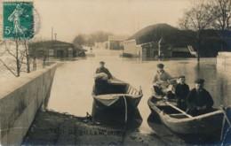 H171 - 92 - BILLANCOURT - Hauts-de-Seine - Octroi - Inondations - Carte Photo - Boulogne Billancourt