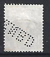 France 1921-22  Saerin (o) 10c  (Perfin. S.N.B.D) - France