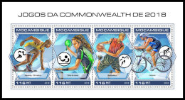 MOZAMBIQUE 2018 MNH** Commonwealth Games Table Tennis M/S - IMPERFORATED - DH1840 - Tenis De Mesa