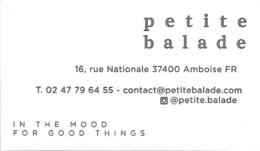Carte De Visite - Petite Balade : In The Mood For Good Things - Amboise [décorateur] - Cartes De Visite