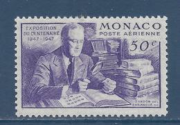 Monaco Poste Aérienne - PA YT N° 22 - Neuf Sans Charnière - 1947 - Airmail