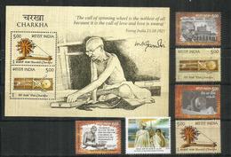 Charkha (spinning Wheel),Indian Spinning Wheel Teachings Of Mahatma Gandhi. B-F (MS) + Timbres Neufs ** - Mahatma Gandhi