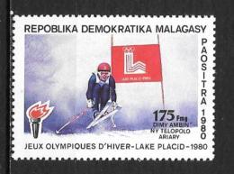 1980 - N° 644**MNH - Jeux Olympiques De Lake Placid - Madagascar (1960-...)