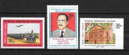 1980 - N° 638 à 640**MNH - 20 Ans De L'armée - Joseph Raseta - Temple D'ANATIROVA - Madagascar (1960-...)