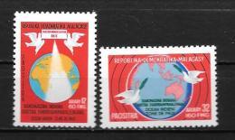 1976 - N° 605 à 606**MNH - Océan Indien, Zone De Paix - Madagascar (1960-...)