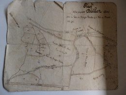 Plan De La Propriété Dalloz Aimé Sise Au Lac-des-Rouges à Fort-du-Plasne (39). - Planches & Plans Techniques
