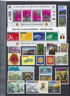 Collection Lot Vrac De 148 Timbres D'Andorre Neufs Et Sans Charnière (valeurs Faciales 118 Euros Pour Affranchissement) - French Andorra