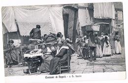 Cartolina - Postcard / Non Viaggiata - Unsent / Costumi Di Napoli - A S. Lucia - Costumi