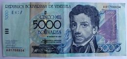 VENEZUELA - 5000 BOLIVARES 2000.bon état - Venezuela