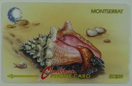 MONTSERRAT - 7CMTA - $20 - MON-7A - Fighting Conch - 1992 - Used - Montserrat