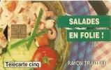 CARTE°-PRIVEE-5U-05/95-GN234-GEMB-CASINO  SALADES EN FOLIE -UTILISEE-TBE - France
