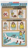 CONSIGNES DE SECURITE / SAFETY CARD  *Airbus A 300 AIR INTER - Consignes De Sécurité