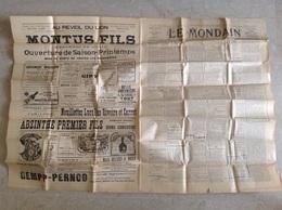 Le Mondain Marseille Avril 1907 Publicité Pernod Absinthe Bénédictine 4 Pages - Newspapers