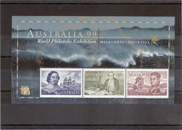 V14 - AUSTRALIE Bloc Feuillet BF 56 ** De 1999 - Navigateurs - TASMAN - COOK - FINDER . - 1990-99 Elizabeth II
