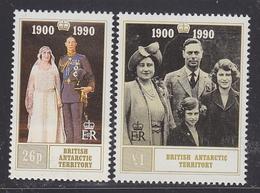 British Antarctic Territory (BAT) 1990 Queen Mother's Birthday 2v ** Mnh (40941B) - Ongebruikt