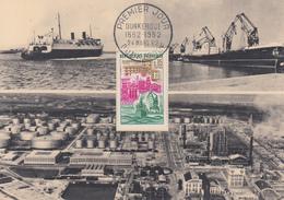 Carte  Maximum   1er   Jour   FRANCE     DUNKERQUE  1962 - Cartes-Maximum