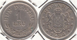 Romania 1 Leu 1924 Ferdinand I Km#46 - Used - Romania