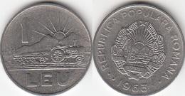 Romania 1 Leu 1963 KM#90 - Used - Romania