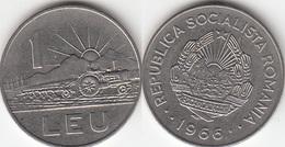 Romania 1 Leu 1966 Socialist Republic KM#95 - Used - Roumanie