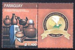 Paraguay 3216 Collège Des Comptables, Poterie, Poule - Paraguay