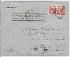 BLOCUS De DJIBOUTI - 1941 - LETTRE CENSUREE Par AVION SERVICE SPECIAL => VAULX EN VELIN - Marcophilie (Lettres)