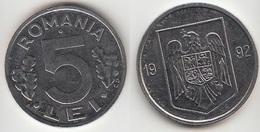 Romania 5 Lei 1992 Km#114 - Used - Romania