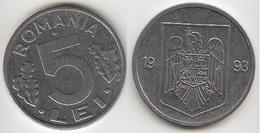Romania 5 Lei 1993 Km#114 - Used - Romania