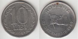 Romania 10 Lei 1991 Anniversary Of Revolution Km#108 - Used - Romania