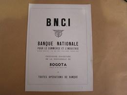 BNCI Banque Nationale Paris Bogota + Compania Colombiana De Seguros Colombie Amérique Bank Assurance Publicité Originale - Publicités