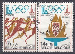 BELGIQUE Belgie Belgio Belgien Belgium - 1978 - Lotto 2 Francobolli Usati UNITI Fra Loro Yvert: 1909 E 1911 - Belgien