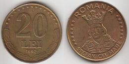 Romania 20 Lei 1992 Km#109 - Used - Romania