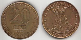 Romania 20 Lei 1992 Km#109 - Used - Roumanie