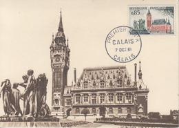 Carte  Maximum  1er   Jour   FRANCE   CALAIS   1961 - Maximumkaarten