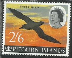 PITCAIRN ISLANDS ISOLE 1964 1965 DEFINITIVES MURPHY'S PETREL GHOST BIRD UCCELLO FAUNA 2sh 6p 2/6 MNH - Pitcairn