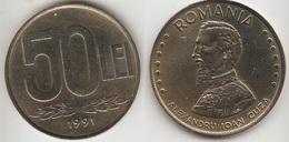 Romania 50 Lei 1991 KM#110 - Used - Roumanie