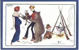 CPA Bertiglia Enfants Illustrateur Italien Italie Italia Guerre Anti Germany Kaiser Russie Marianne Ours Aigle - Bertiglia, A.