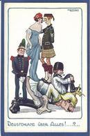 CPA Bertiglia Enfants Illustrateur Italien Italie Italia Guerre Anti Germany Kaiser Russie Marianne Ecosse - Bertiglia, A.