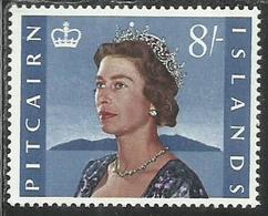 PITCAIRN ISLANDS ISOLE 1964 1965 DEFINITIVES QUEEN ELIZABETH II REGINA 8sh MNH - Stamps
