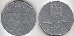 Romania 5,000 Lei 2001 Km#158 - Used - Roumanie