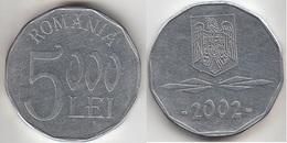 Romania 5,000 Lei 2002 Km#158 - Used - Roumanie