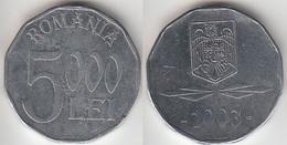Romania 5,000 Lei 2003 Km#158 - Used - Roumanie