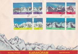 Pakistan 1981 Fdc Mountain Peaks Karakoram Range K2 - Pakistan