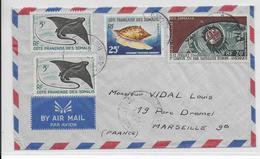 SOMALIS - 1962 - ENVELOPPE AVION De DJIBOUTI  => MARSEILLE - Côte Française Des Somalis (1894-1967)