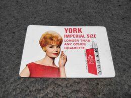 RARE ANTIQUE POCKET CALENDAR ADVERTISING YORK CIGARETTES 1964 - Calendriers