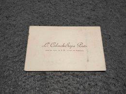 RARE ANTIQUE PORTUGAL VISIT CARD Lth COLONEL SERPA PINTO - AIDE DE CAMP DE S.M. LE ROI DE PORTUGAL - Cartes De Visite