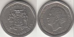 Giamaica 5 Dollars 1994 Coat Of Arms KM#163 - Used - Giamaica